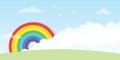 Rainbow with big cloud