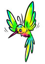 Rainbow bird hummingbird Royalty Free Stock Photo