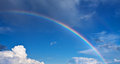 Rainbow on blue sky Stock Photography