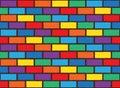 Rainbow bricks pattern