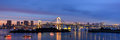 Rainbow Bridge at night, Tokyo, Japan Royalty Free Stock Photo