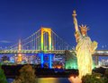 Rainbow bridge in tokyo japan Stock Photography
