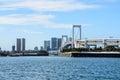 Rainbow bridge in Tokyo Japan Royalty Free Stock Photo