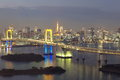 Rainbow bridge and tokyo tower bay at Royalty Free Stock Image
