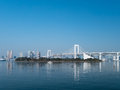 Rainbow bridge tokyo view from odaiba island japan Stock Photo