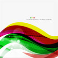 Rainbow bright light air lines background green and yellow colors Stock Photography