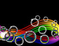 Rainbow Bubble Wave Royalty Free Stock Photos