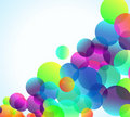Rainbow Bubbles Background for Elegant Flyers Stock Photo