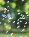 The rainbow bubbles Royalty Free Stock Photo