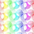 Rainbow Bubbles Seamless Background Royalty Free Stock Photo