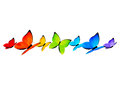 Rainbow butterflies border for Your design 4 Royalty Free Stock Photo