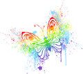 Rainbow butterfly Royalty Free Stock Images