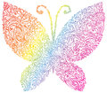Rainbow butterfly Stock Photos