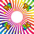 Rainbow Butterfly Background Royalty Free Stock Photography