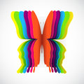 Rainbow butterfly Royalty Free Stock Photo