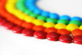 Rainbow candy colored chocolate detail Royalty Free Stock Photo