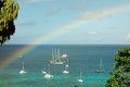 A rainbow in the caribbean Royalty Free Stock Photo