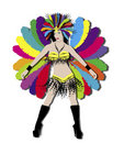 Rainbow Carnival Dancer Royalty Free Stock Photo