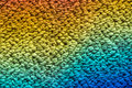 Rainbow on carpet reflection woollen Royalty Free Stock Photography