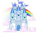 Rainbow Castle Stock Images