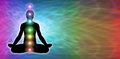 Rainbow Chakra Meditation Website Banner Royalty Free Stock Photo