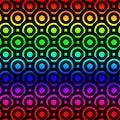 Rainbow Circles Donuts Seamless Pattern Royalty Free Stock Photo