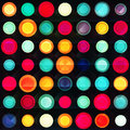 Rainbow circles seamless pattern with grunge effect Royalty Free Stock Photo