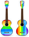 Rainbow classical acoustic Stock Photography
