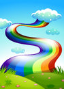 A rainbow in the clear blue sky illustration of Royalty Free Stock Images