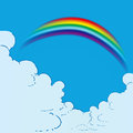 Rainbow in the Clouds Stock Images