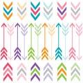 Rainbow Color Arrows Set Royalty Free Stock Photo