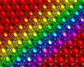 Rainbow color ball pattern reflective balls colour metallic spheres tightly packed with textures colorful beads array Royalty Free Stock Images