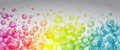 Rainbow color bubbles Royalty Free Stock Photo