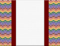 Rainbow color celebration background zigzag with ribbon and center for copy space Stock Images