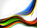 Rainbow color wave background vector illustration Stock Photography