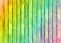 Rainbow color wood panels design texture surface background Royalty Free Stock Images