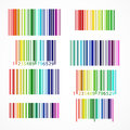 Rainbow colored barcode. Vector illustration. Royalty Free Stock Photo