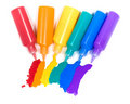 Rainbow from colored blot Stock Image