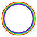 Rainbow colored circle on white background