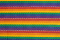 Rainbow colored fabric stripes Stock Photo