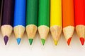 Rainbow Colored Pencils Royalty Free Stock Photo