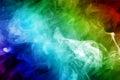 Rainbow colored smoke. Royalty Free Stock Photo