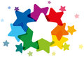 Rainbow Colored Stars Royalty Free Stock Photo