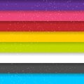 Rainbow colored stripes shiny vector background seamless pattern this is file of eps format Royalty Free Stock Images