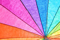 Rainbow Colored Summer Umbrella Royalty Free Stock Photo