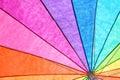 Rainbow Colored Summer Umbrella Royalty Free Stock Photo