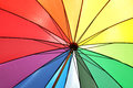 Rainbow colored umbrella Royalty Free Stock Photo