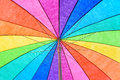 Rainbow Colored Umbrella Background Royalty Free Stock Photo