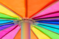 Rainbow Colored Umbrella Background Royalty Free Stock Photo