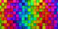Rainbow of colorful blocks abstract background